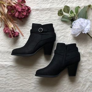 NWT Black Suede Booties